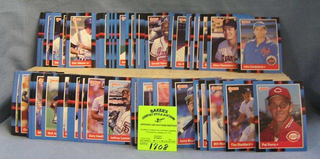 1988 Donruss baseball cards half box full