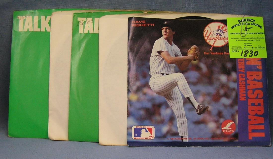Group of vintage sports records