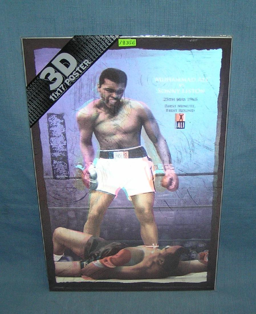 Muhammad Ali vs Sonny Liston 3D poster