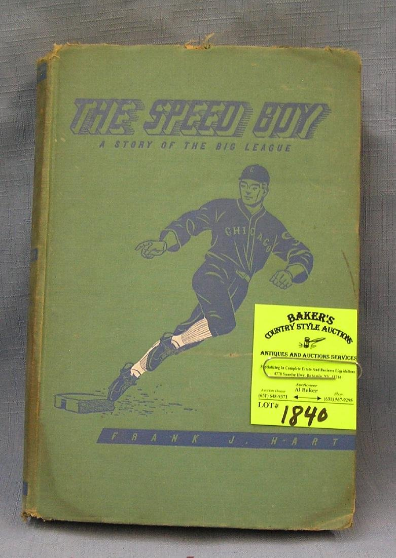 The Speed Boy vintage baseball book