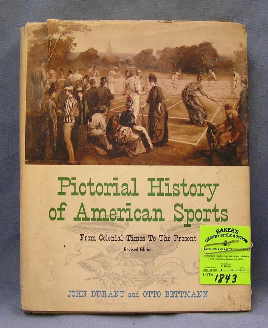 Pictorial History of American Sports dated 1965