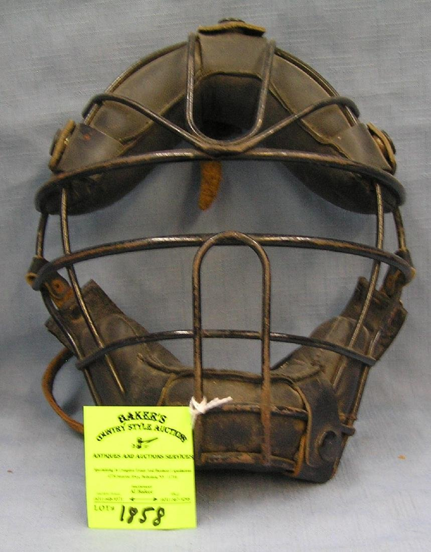 Antique catcher's mask