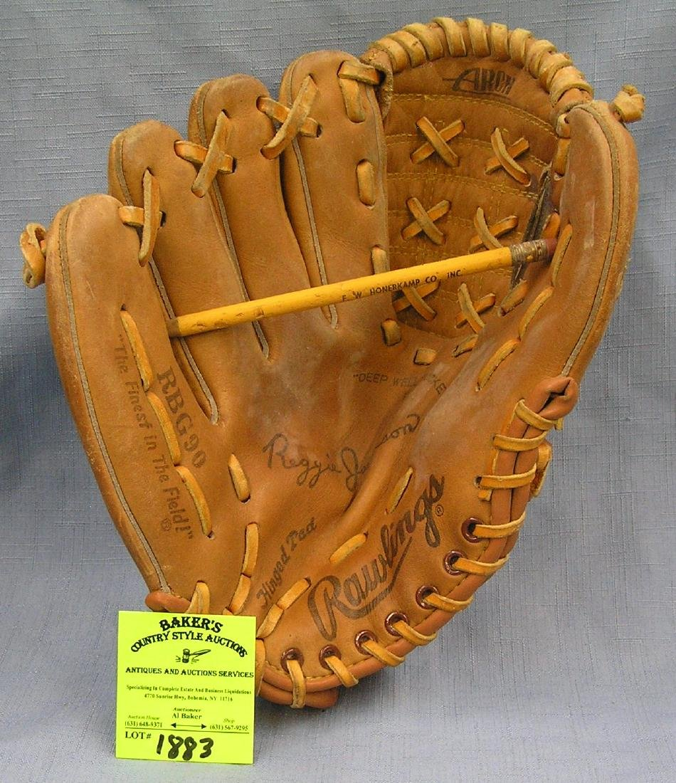 Vintage Leather Reggie Jackson baseball glove