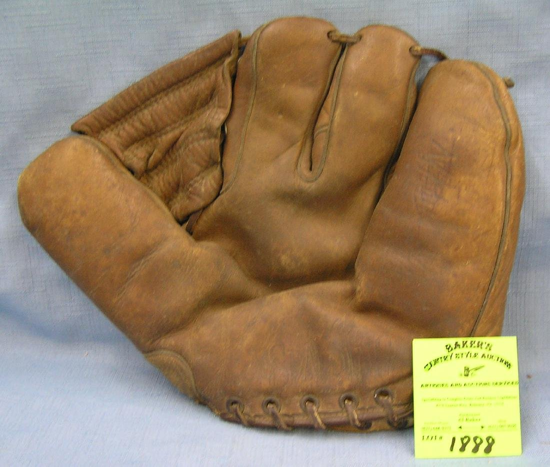 Antique leather baseball glove