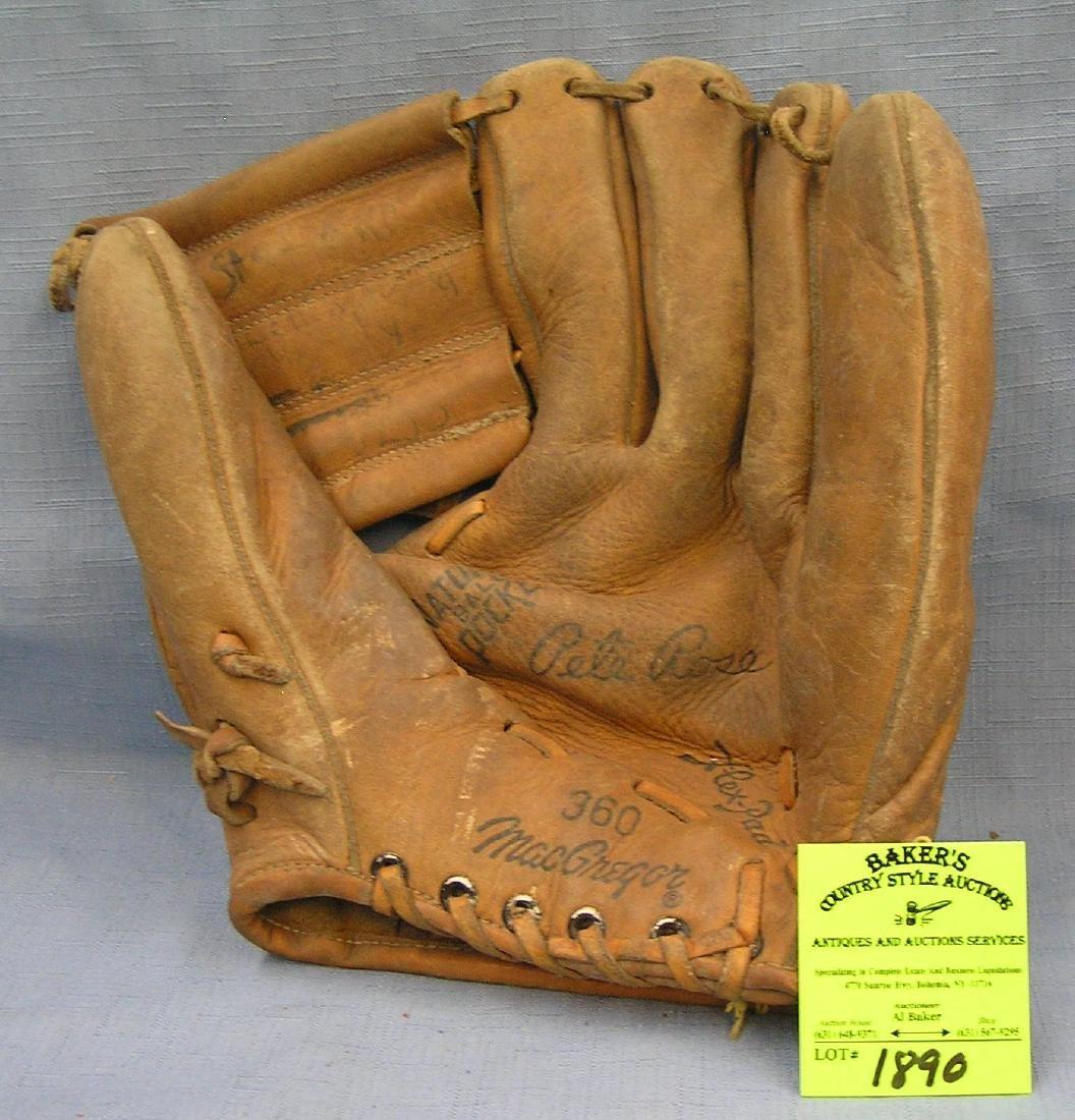 Pete Rose baseball glove by Macgregor