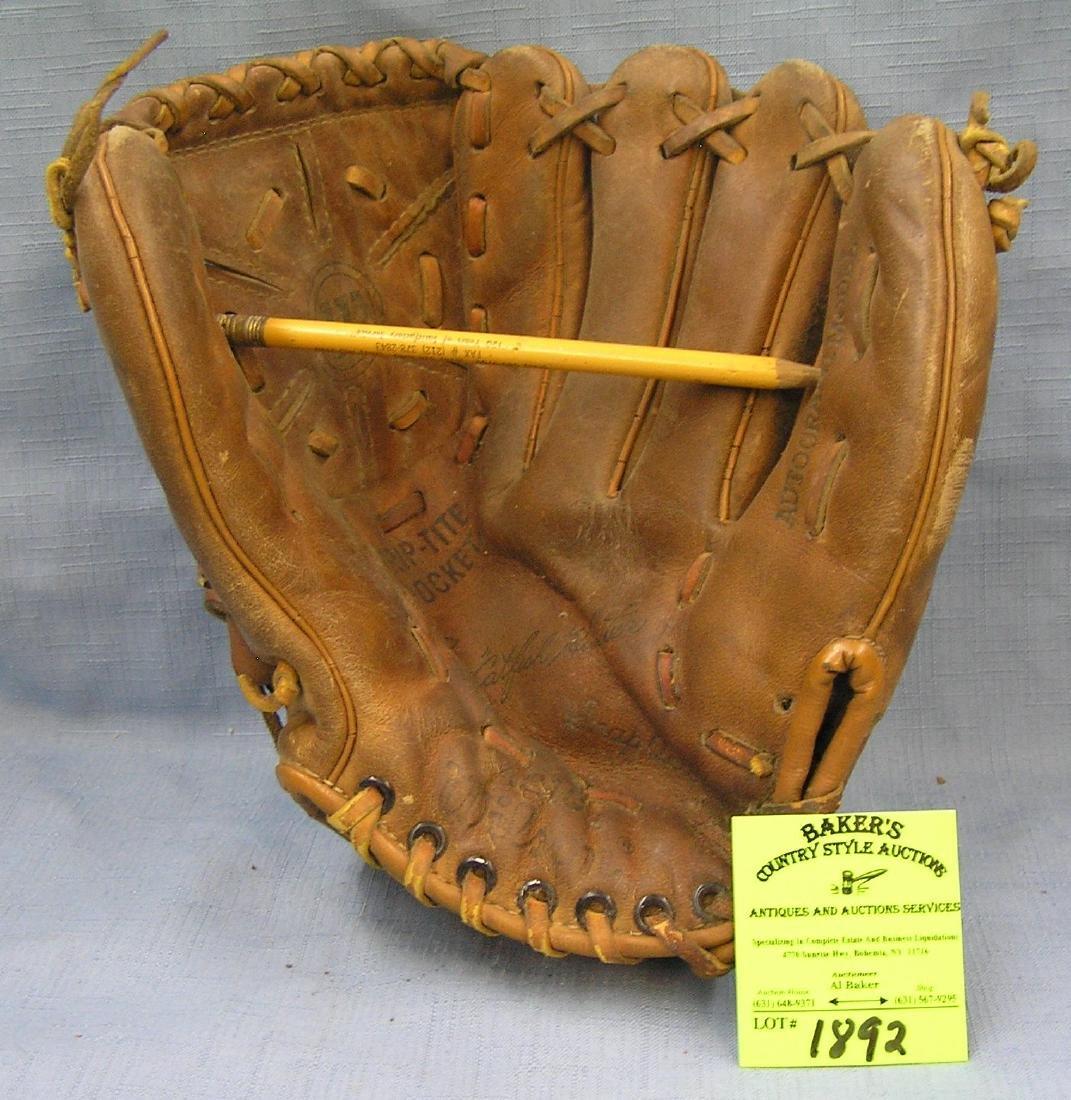 Vintage Leather Catfish Hunter Baseball glove