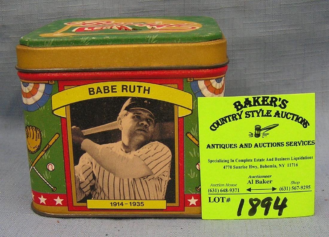 baseball hall of fame collectible tin bank