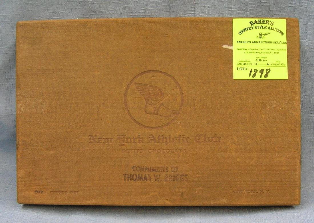 Early New York athletics cedar chocolate box