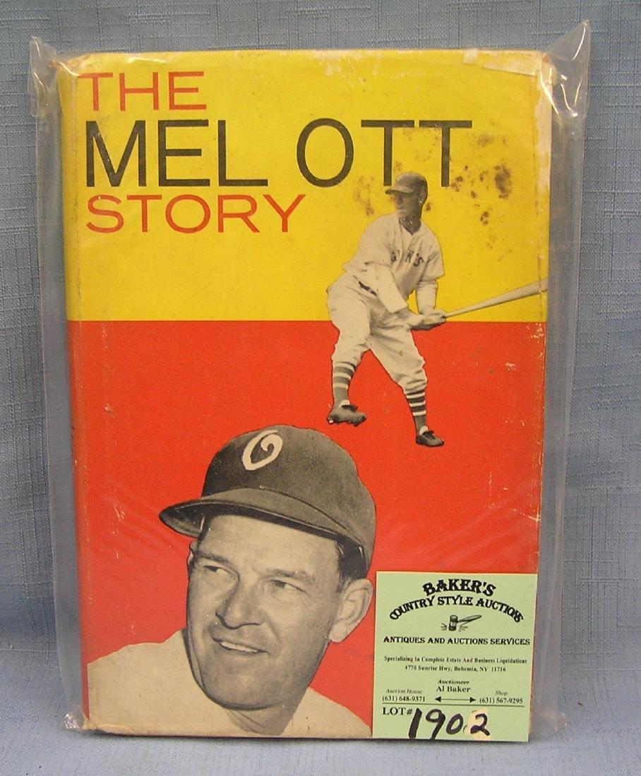 Vintage Mel Ott baseball book