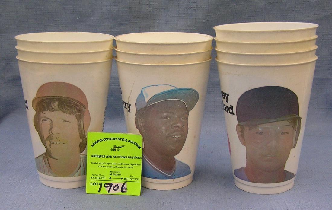 Vintage baseball all star slurpee cups
