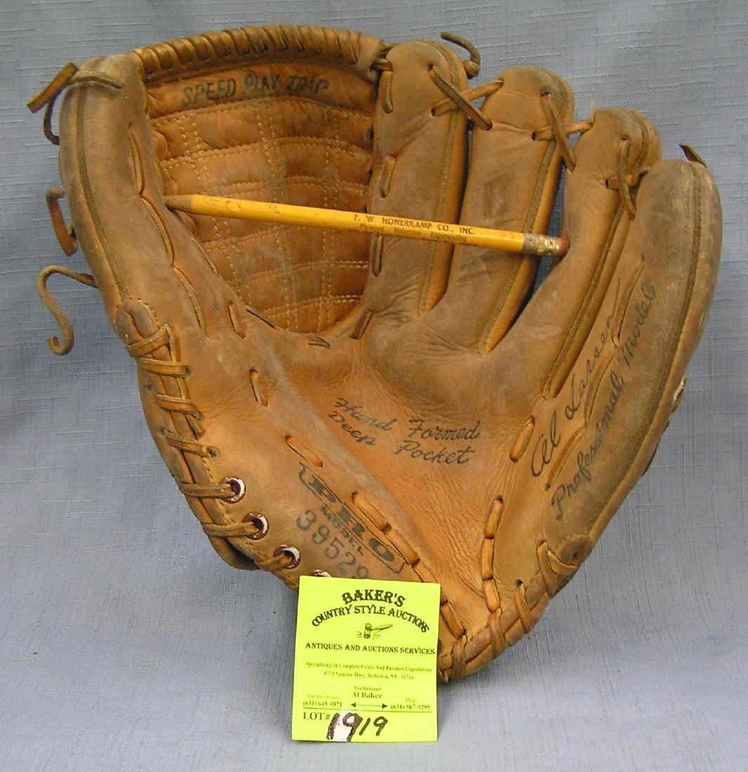 Vintage leather Al Larsen baseball glove