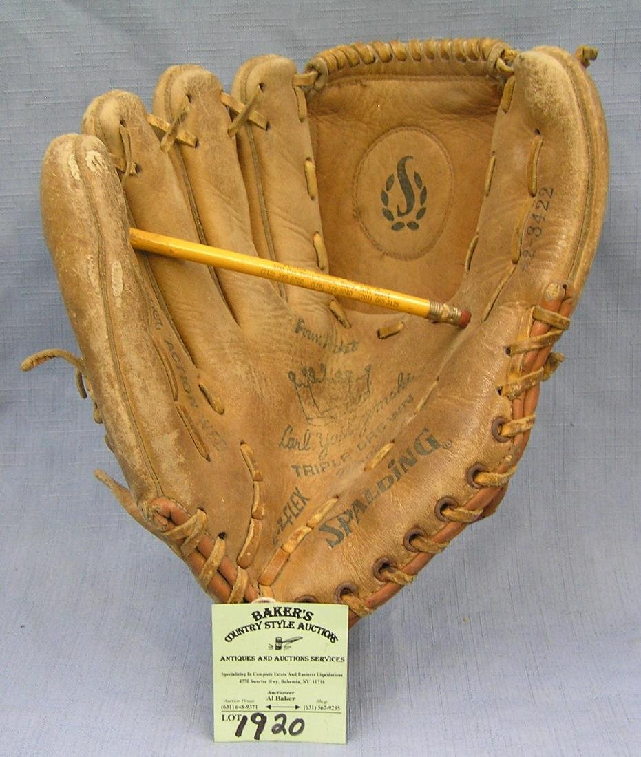Vintage leather Carl Yastrzemski baseball glove