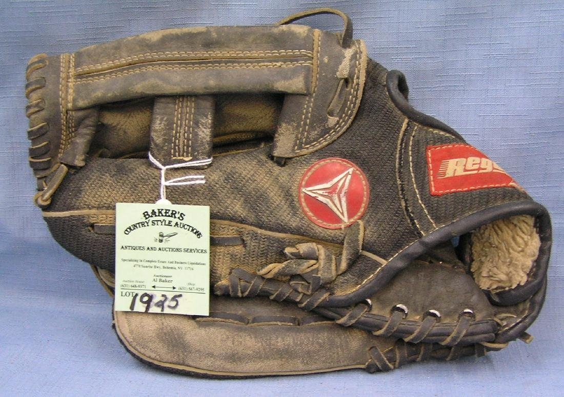 Vintage leather baseball glove by Regent