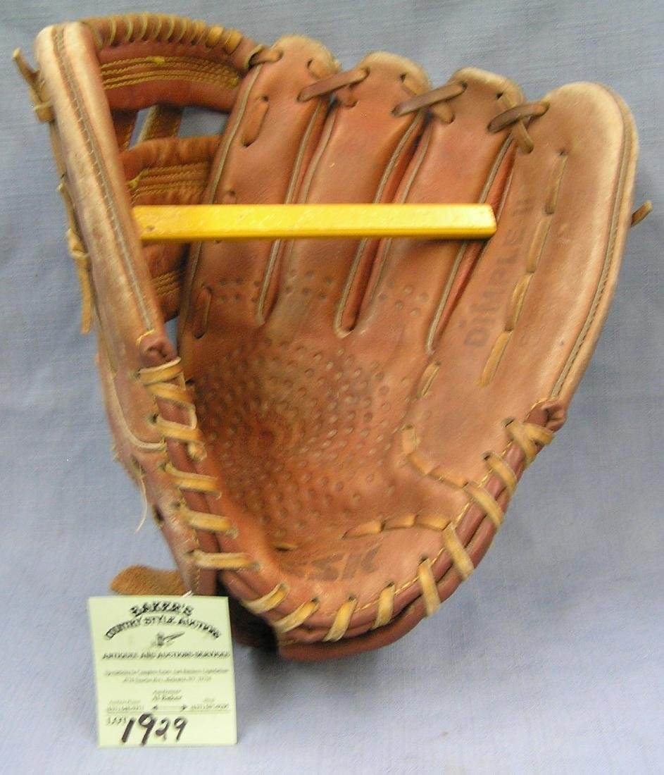 Vintage leather baseball glove
