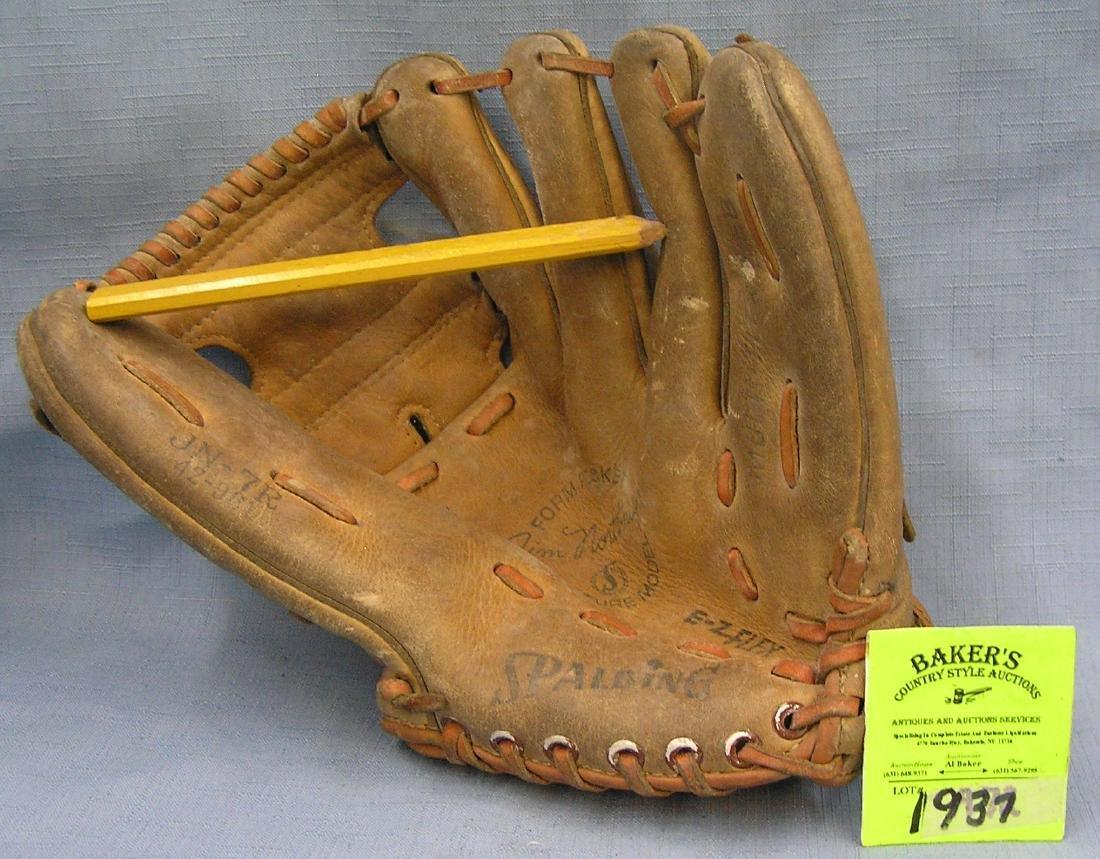 Vintage Leather Jim Northtrope baseball glove