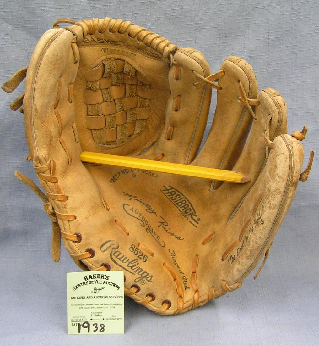 Mickey Rivers  baseball glove by Rawling