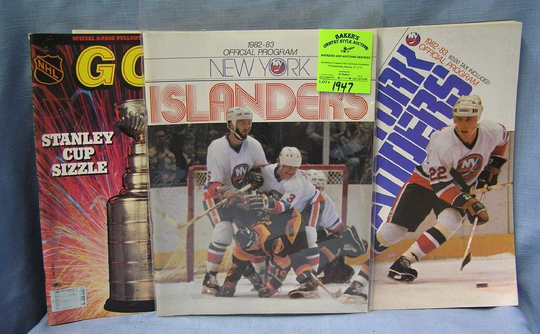 Box of vintage hockey programs
