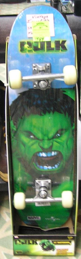 Great vintage Incredible Hulk skateboard