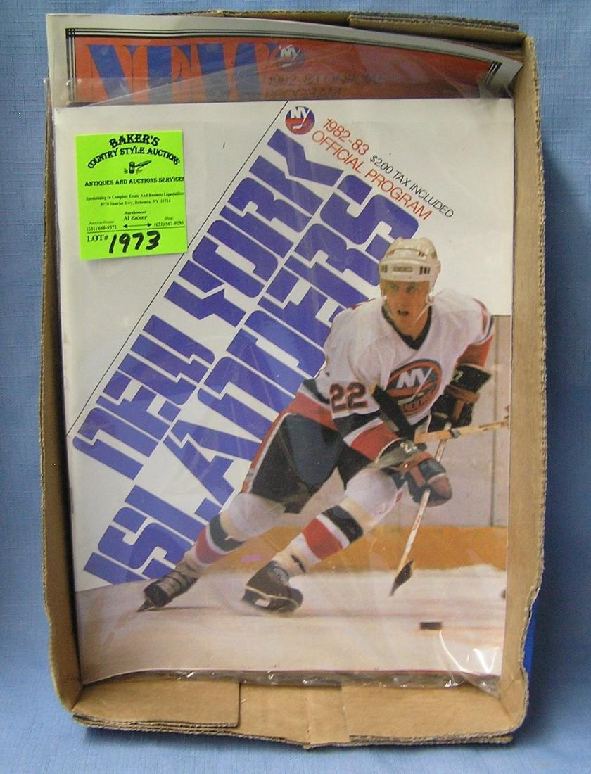Box of vintage hockey programs