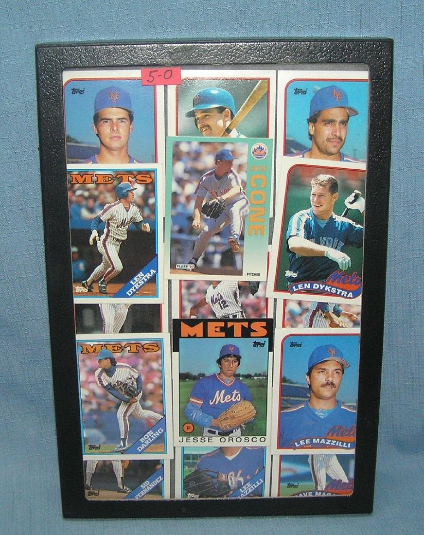 Group of vintage NY Mets baseball cards