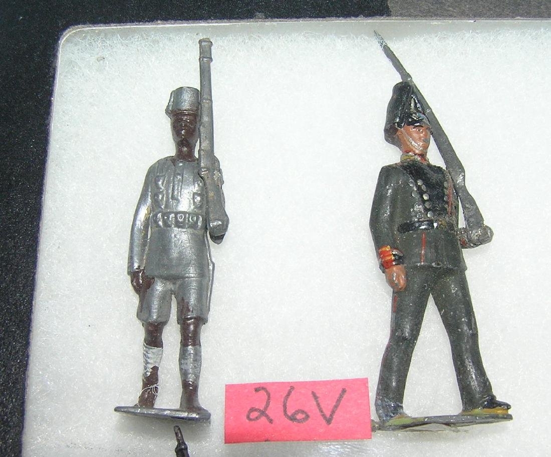 Pair of vintage hand painted soldiers
