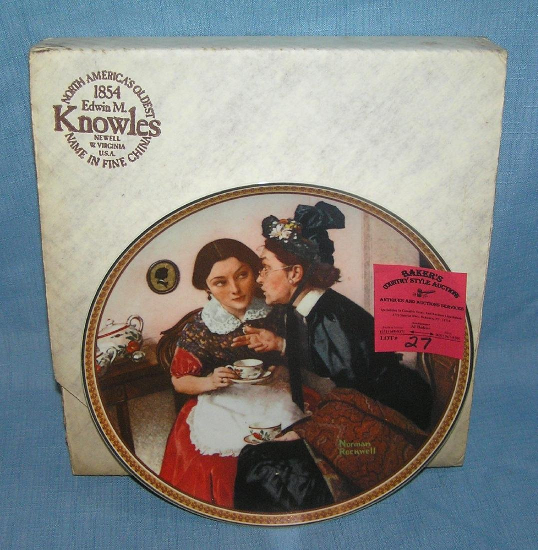 Norman Rockwell collector plate: Gossiping in the