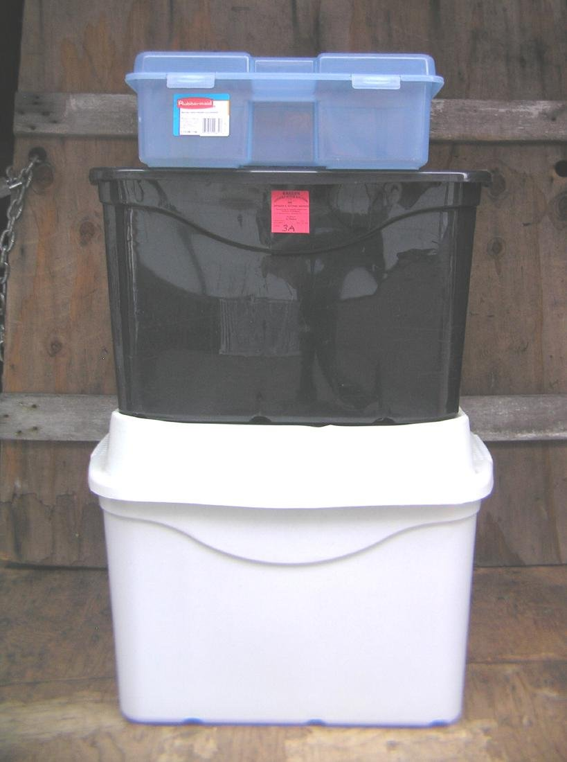 Group of 3 storage containers