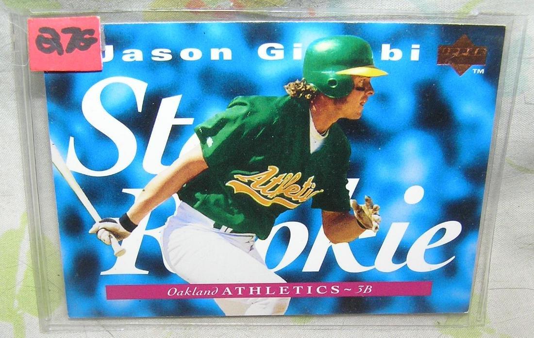Jason Giambi rookie baseball card