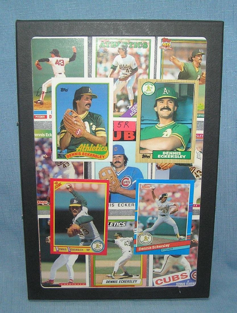 Group of vintage Dennis Eckersley baseball cards
