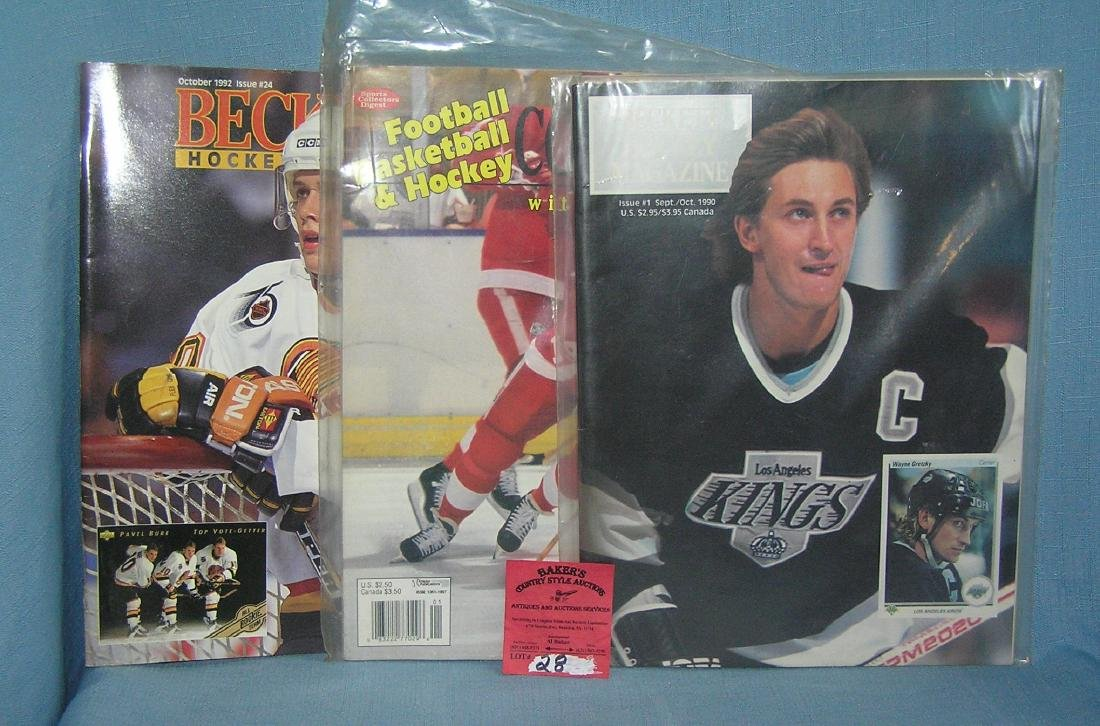 Group of 3 hockey magazines and price guides