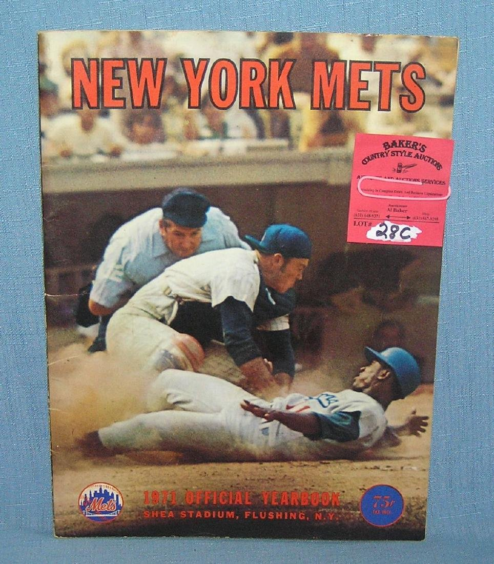 NY Mets 1971 official year book