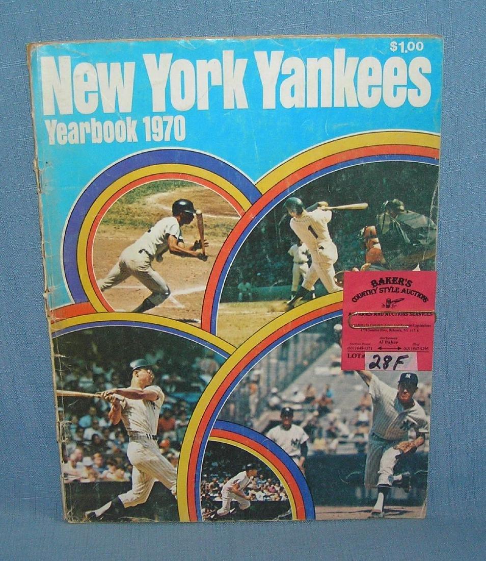NY Yankees 1970 year book