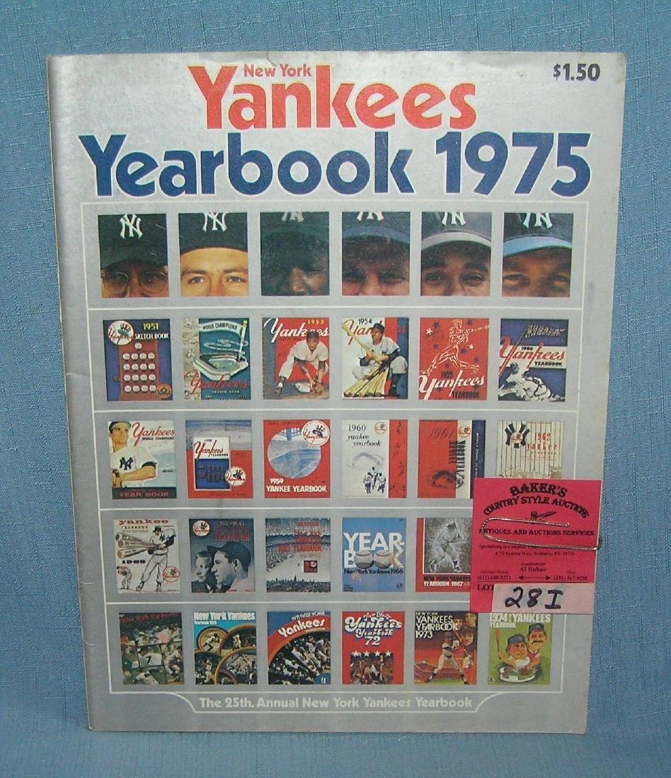 NY Yankees 1975 year book