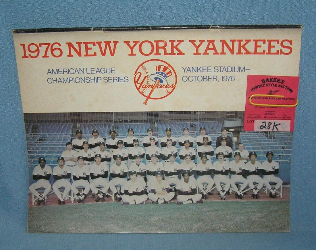 NY Yankees 1976 official directory