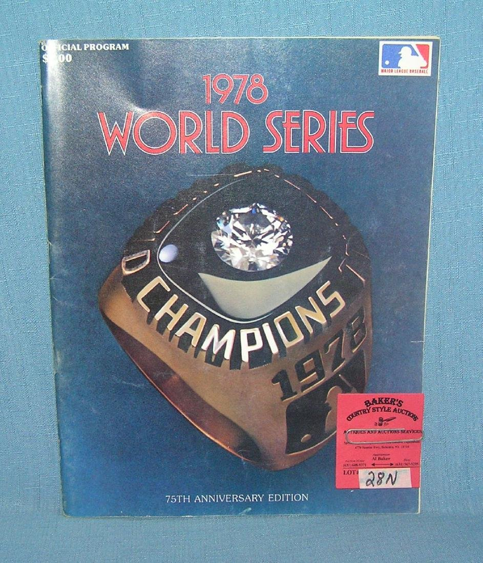 World Series 1978 official program