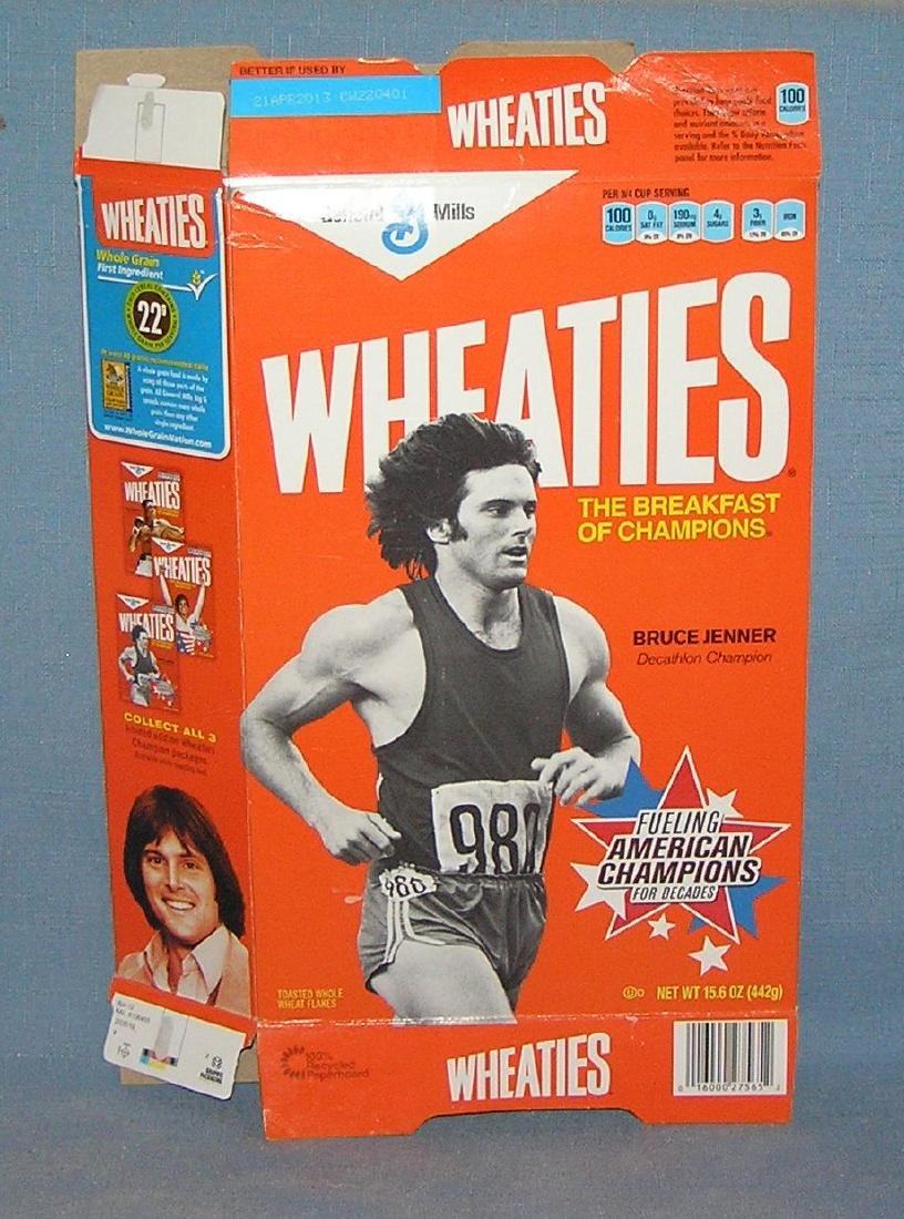 Bruce Jenner decathlon champion Wheaties cereal box