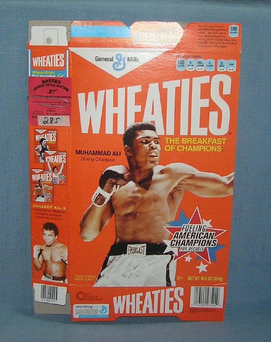 Muhammed Ali boxing champion Wheaties cereal box