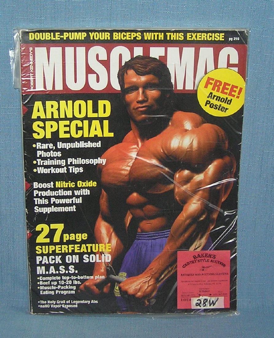 Muscle magazine featuring Arnold Schwarzenegger