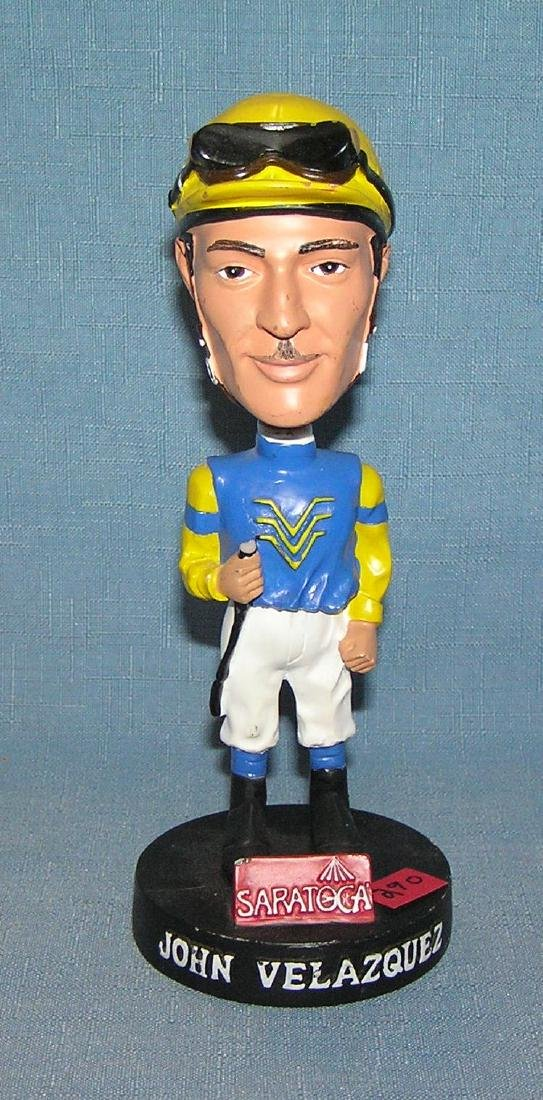 John Velazquez professional jockey bobble head doll