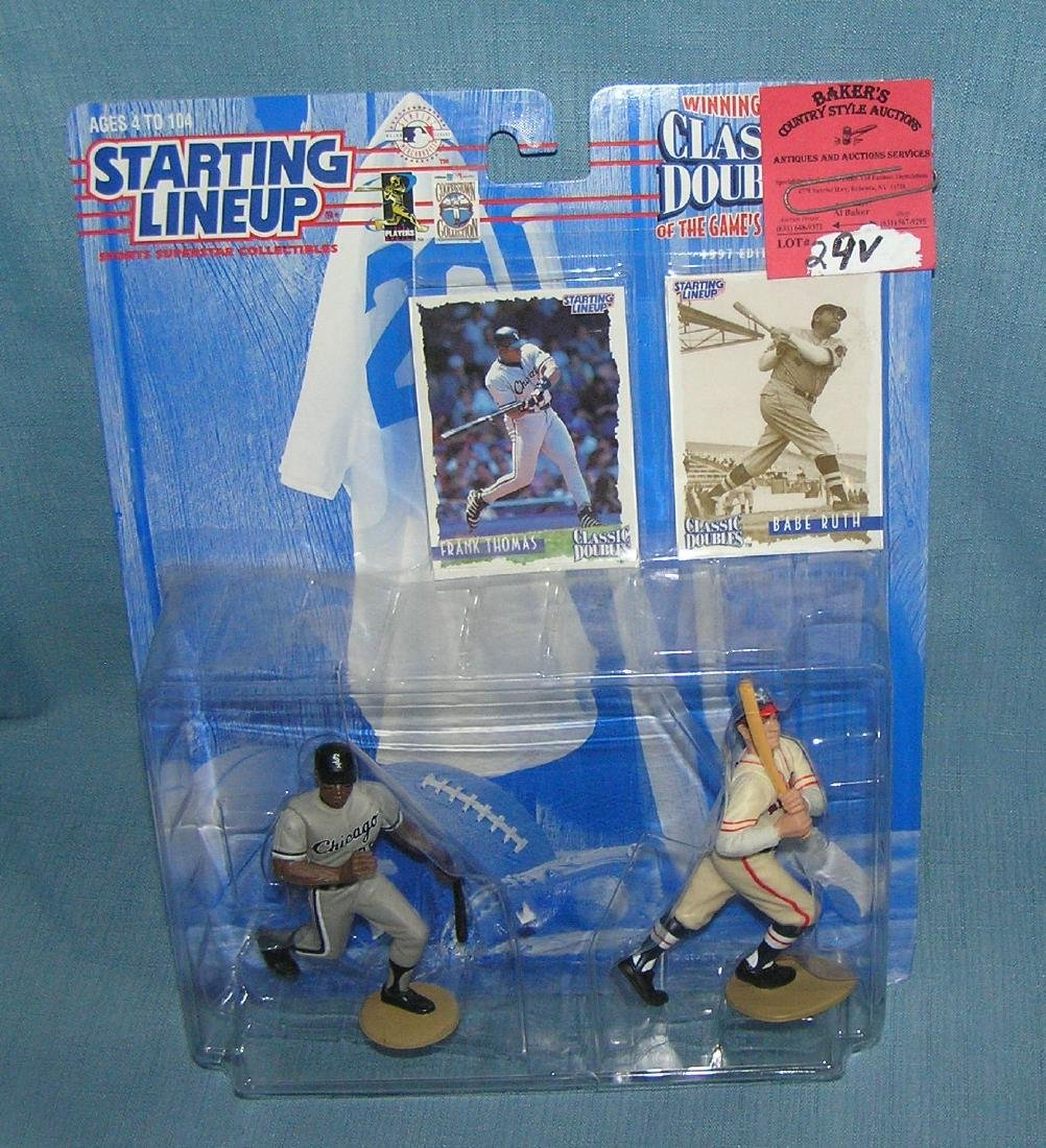 Pair of vintage Starting Lineup baseball figures