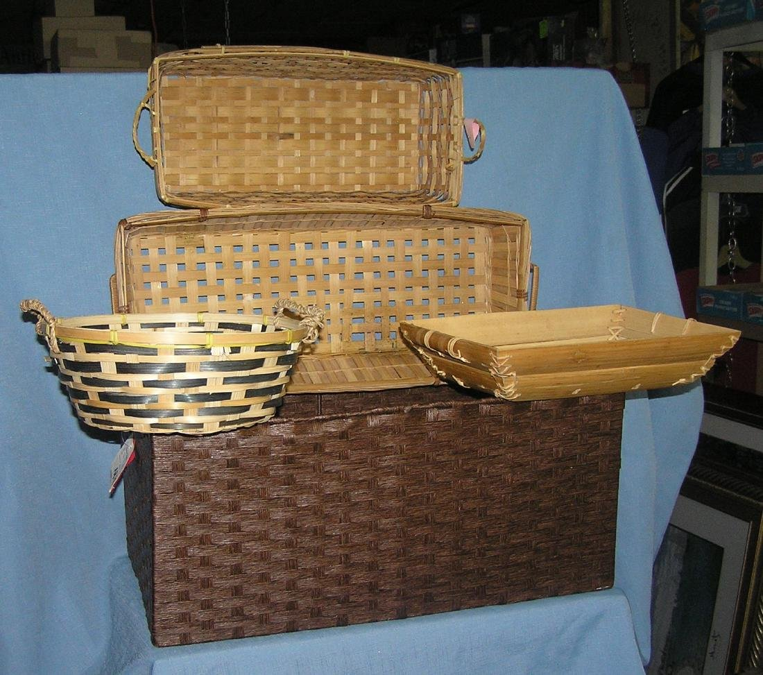Group of 5 quality decorative baskets