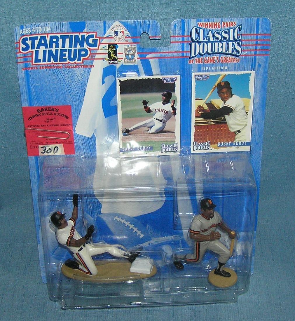 Pair of vintage Starting Lineup baseball figures