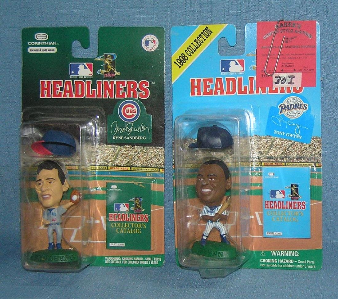 Pair of Headliners baseball figures