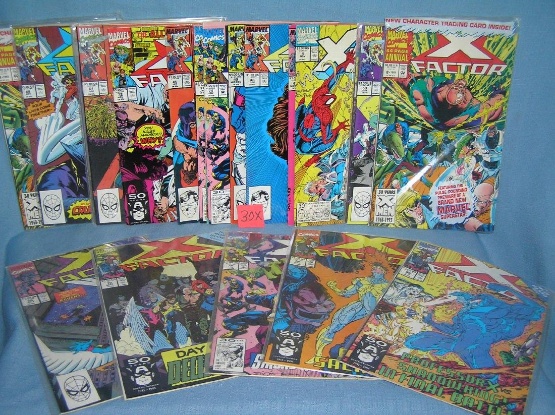 Vintage Marvel, Xmen and related comic books