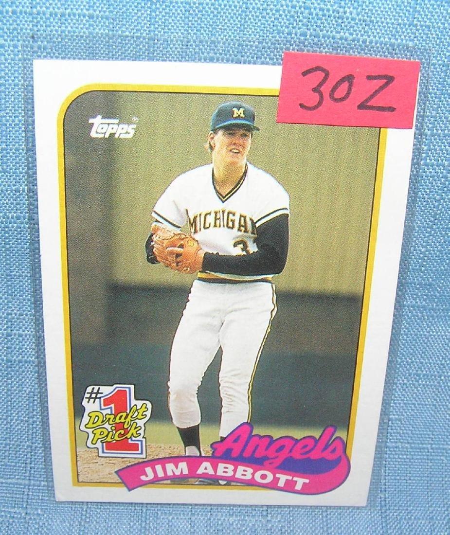 Jim Abbott rookie baseball card