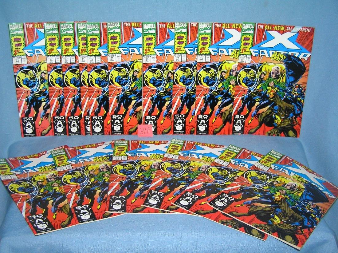 Large group of vintage Marvel X Factor comic books