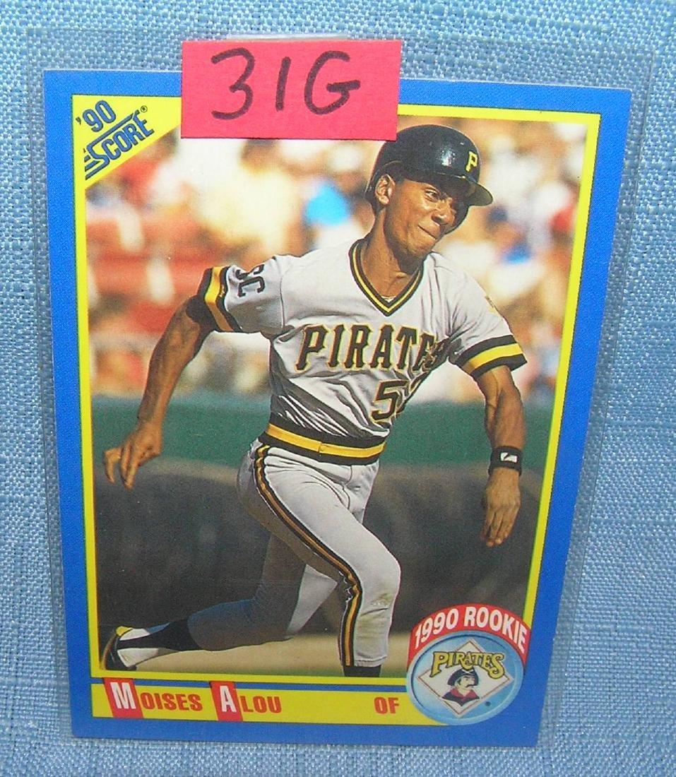 Moises Alou rookie baseball card