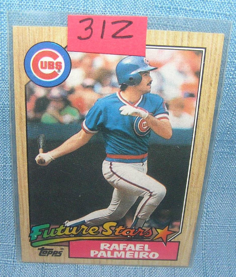 Rafael Palmeiro rookie baseball card
