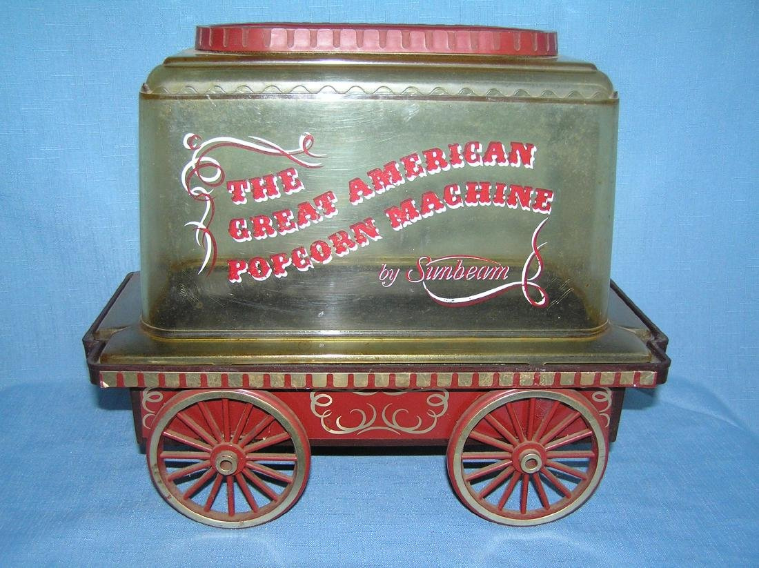 Popcorn cart by Sunbeam