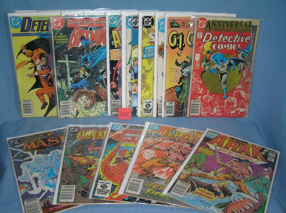 Large group of vintage DC comic books